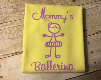 Mommy's or Daddy's Ballerina T-Shirt