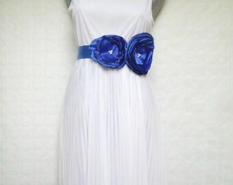 Blue belt, Blue bridal belt, Blue colored sash
