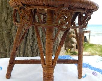 Salesman's Sample Wicker Table