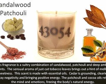Sandalwood Patchouli Soy Candle 8.5 oz.