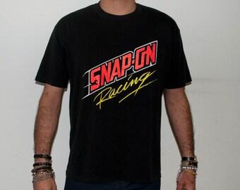 SALE Vintage Snap Racing Tshirt Size XL