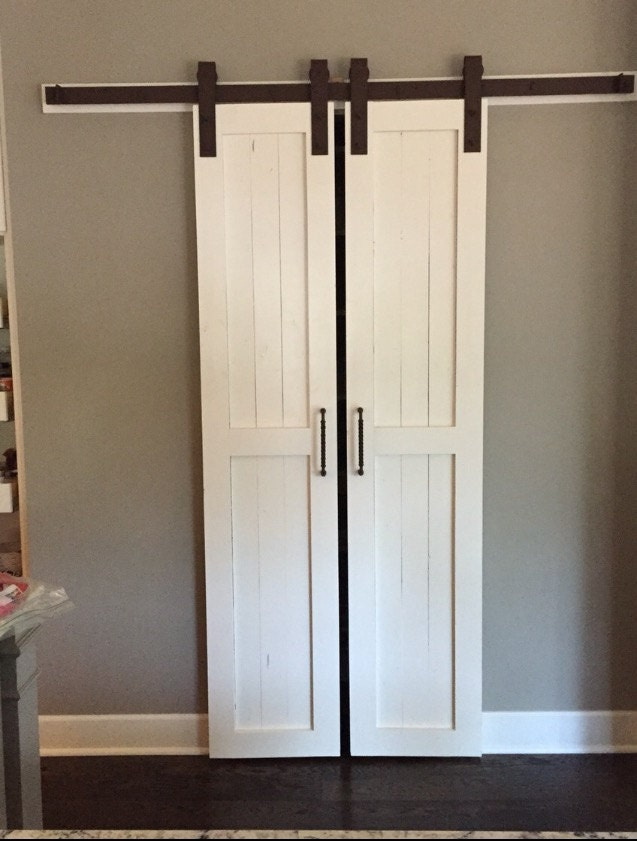 Sliding barn door style pantry doors door only by russbuilders for Sliding pantry doors