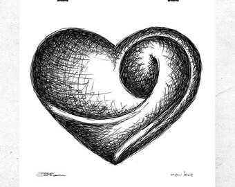 New Love, fine art print.