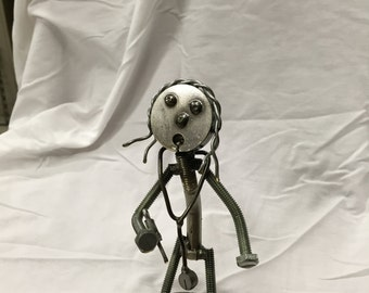 Welded metal art Nurse/nurse