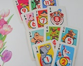 Vintage Children's Playing Cards, 11 Star (Clubs) Suit, Circus Character Scrapping, Crafting, Altered Art, Collage, Mixed Media #79  ok