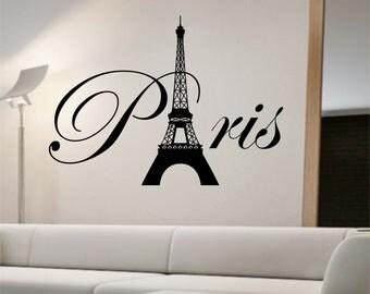 Paris Eiffel Tower Wall Decal Sticker Art Decor Bedroom Design Mural interior design family home decor art