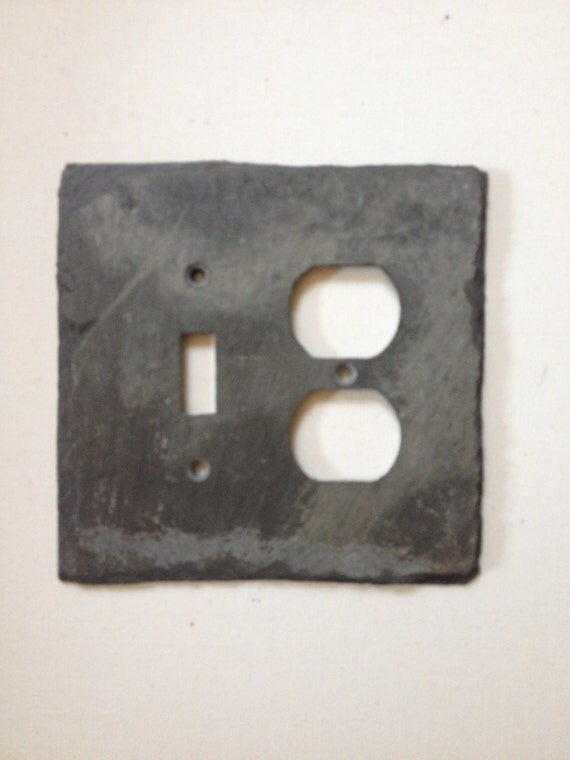 Unique Decorative Double Outlet Cover By Vermontslateplates