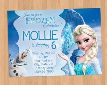 Frozen Elsa Birthday Invitation Printable