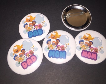 Bubble Guppies Parent of the Birthday Child Pin