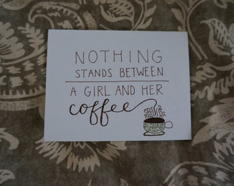 Coffee Girl notecards