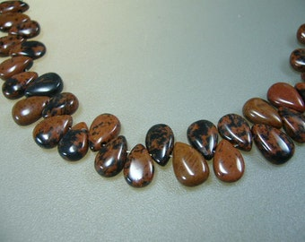 Smooth Tiny Jasper Briolettes Teardrop Beads Earrings Necklace Set of 15