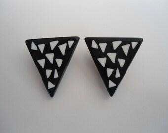 Vintage Earrings, 80s earrings, clip on earrings.