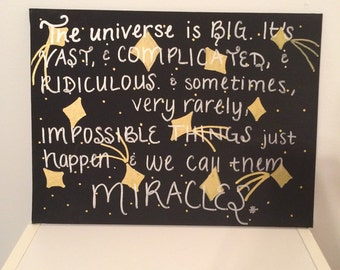 "Doctor Who ""Miracles"" Hand Painted Canvas"