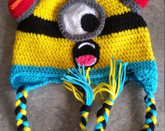 Bee Doo!!! Fireman Minion Beanie - Made to Order