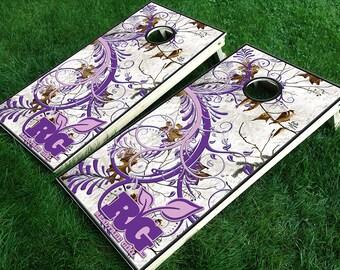Cornhole Vinyl Graphic Kit- Purple Realtree® Girl