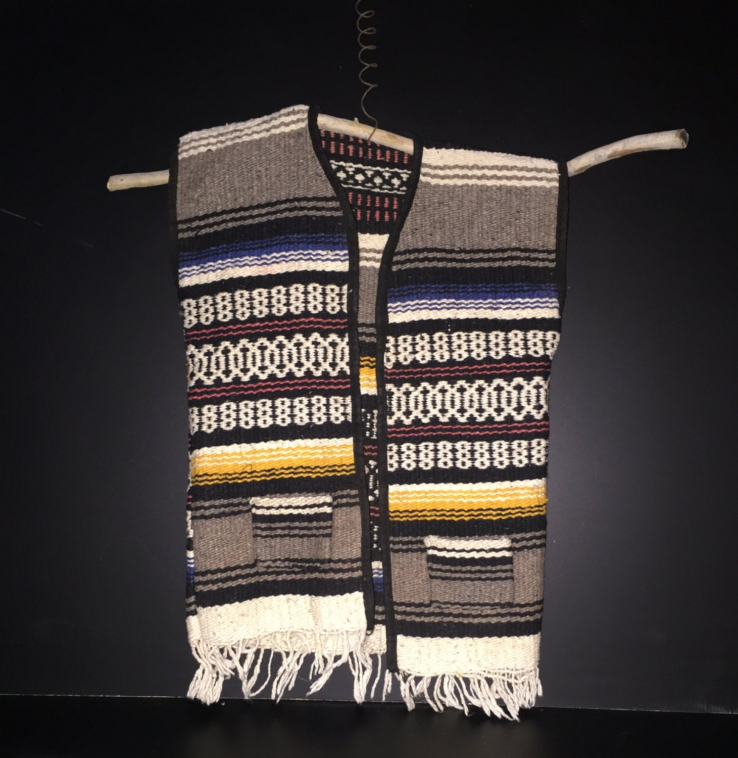 Mexican Blanket Vest Child Size Wall Art Darling By
