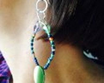 Button & Things dangle earrings