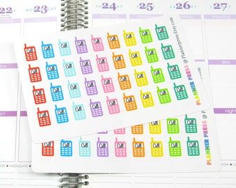 Cellphone Call Reminder Planner Sticker for Erin Condren Life Planner (ECLP) Reminder Sticker 1132