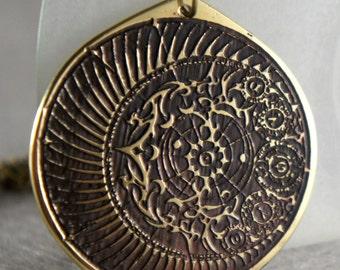 Alchemy circle transmutation kabbalah amulet pendant