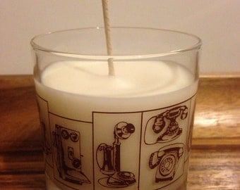 Retro telephone candle