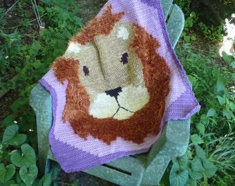 Lion Crochet Pattern, Lion Blanket