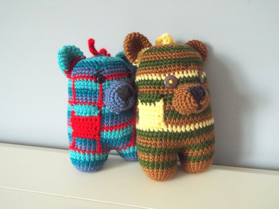 Amigurumi Baby Shower Bears : Crochet Bear amigurumi dolls stuffed animal kids toys baby
