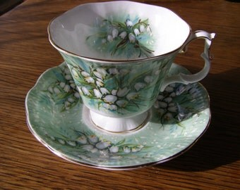 Vintage Royal Albert Haymarket Festival Series Bone China Tea Cup & Saucer