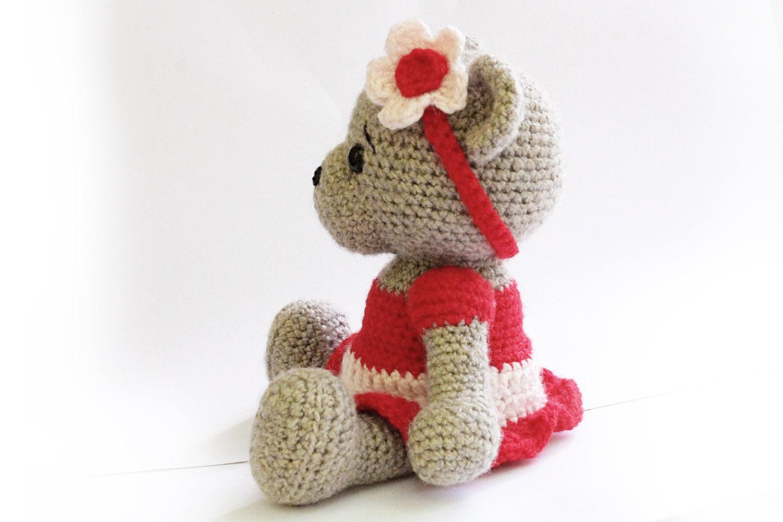 Amigurumi Doll Skirt : PATTERN : Bear- teddy Bear Girl-Amigurumi bear pattern ...