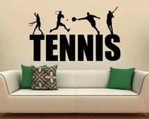 Popular Items For Tennis Wall Decal On Etsy
