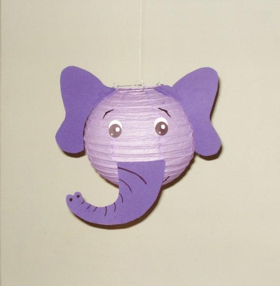 purple elephant paper lantern safari party decorations baby shower