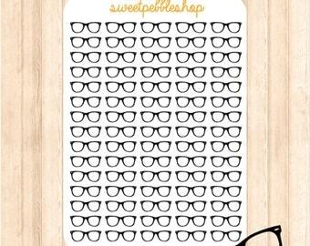 Nerdy Glasses (75) - Die-Cut Planner Sticker