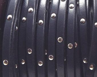 Grey flat leather, 5 mm * 20 cm