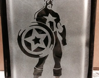 captain america glass block 2