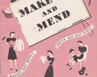 Make Do and Mend - Digital Reproduction