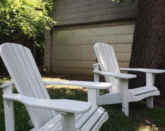 White Adirondack Chairs - Set of 2