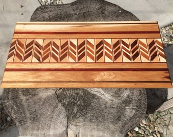 Handmade Chevron Cutting Board
