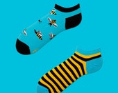 Bee Bee Low Socks | women socks | colorful socks | mismatched | mens socks | fun | sport socks | patterned socks | charity | worldwide