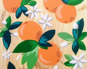 Orange Board, Original Painting