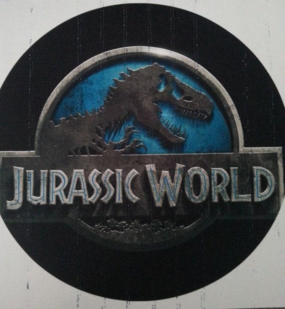 Jurassic World circle cake topper by SugarPRINTcess on Etsy