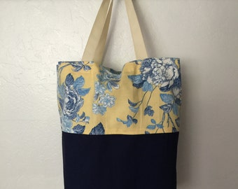 On Sale Reusable shopping bag, reversible shopping tote, washable grocery bag