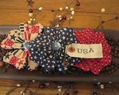 Flower Bowl Filler - Flower Tucks - Bowl Filler - Patriotic Flowers - Red, White & Blue