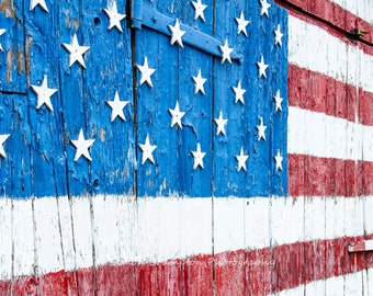 American Flag Canvas Wrap - Stars & Stripes - Fine Art