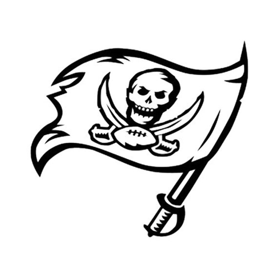 Tampa bay buccaneers decal sticker for car truck by for Tampa bay buccaneers coloring pages