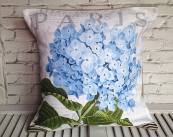 HYDRANGEA FLOWER PILLOW,Vintage,French