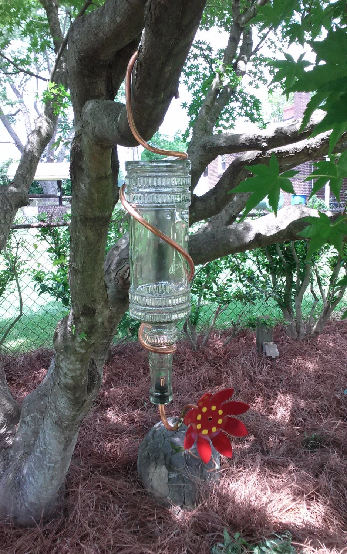 Unique hummingbird feeder handmade for Unique homemade bird feeders