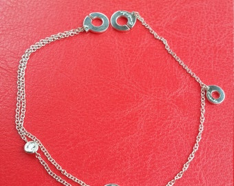 Ankle chain silver