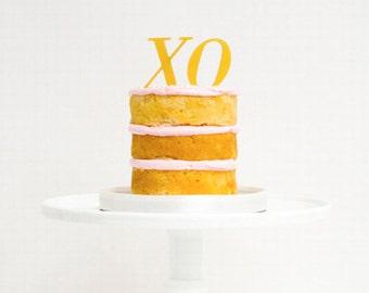 XO Gold Acrylic Treat Topper Set