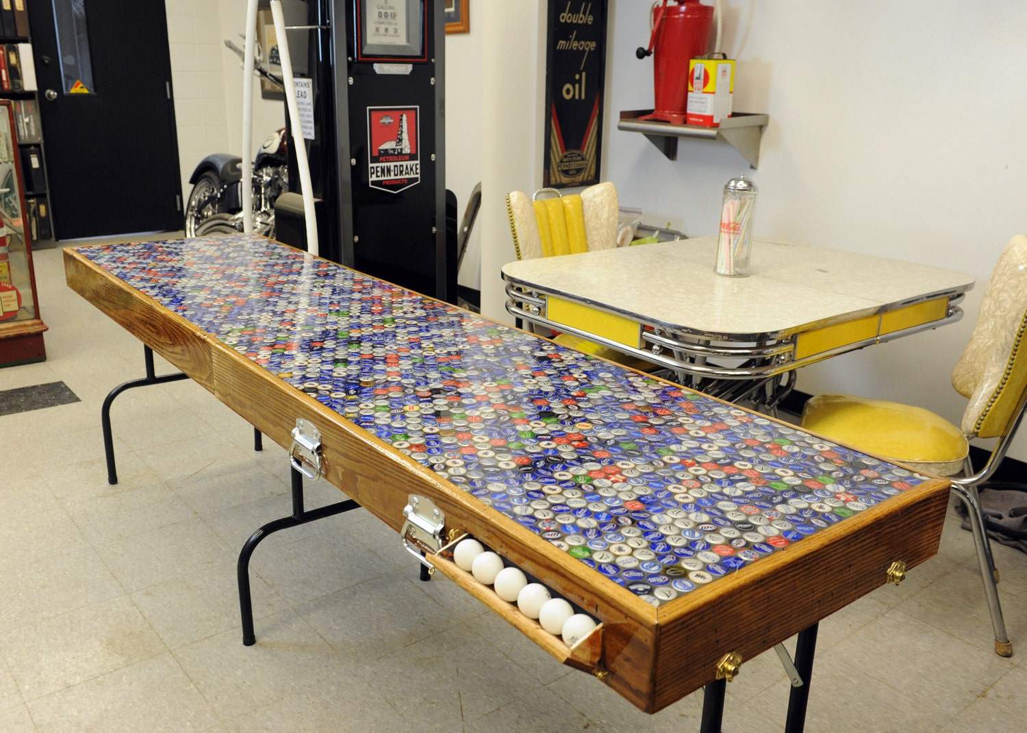 Homemade beer pong table - Portable Beer Pong Table Built From Reclaimed Wood And