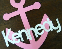 Nautical Cake Topper - Personalized/ Pink