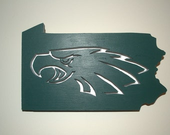 Eagles Team Logo, Wooden Sign, Logo Sign